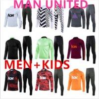 United Manchester Training Suit Ronaldo Tracksuit Futebol Jersey Homens e Crianças Futebol Sportswear Pé 2021 2022 Homem Utd Top Quality Uniforme