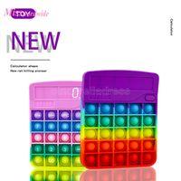 EU estoque Novo Fidget Calculadora Brinquedos Kawaii Antistress Push Bubble Reliver Reliver Estresse Adulto Chlidren Sensory Brinquedo Presentes com autismo MT14