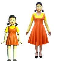 Costume squid Halloween game 123 wooden man dress Dress Girl Dress Adult