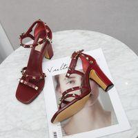 디자이너 하이힐 9cm 샌들 여성 신발 극단적 인 블루 레드 브라운 플랫폼 스틸레토 구두 큰 크기 42 43 Peep 발가락 펌프
