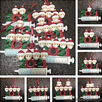 US Stock 2021 DHL Free Resin Christmas Decorations Ornaments DIY Printable Pendant Home Party Gifts for Family Friends