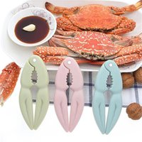 3 Colors Creative Peeling Walnut Nut Clip Lobster Crab Biscuit Crab Pliers Seafood Tools Kitchen Gadgets Pink Blue Green OWA8517