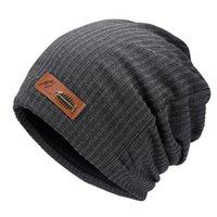 Шапочки мужская шапка для мужчин Женщины вязаные шляпы для студентов Чулы НочныеCAP Gorro Baggy Sleep Sleep Mask Mask Caper