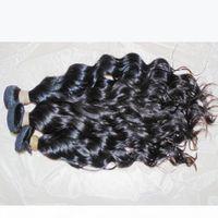 موجة الشعر الطبيعية الخام عذراء المياه متموجة الشعر البشري الهندي غير المجهزة لحمة 300 جرام الكثير مستودع سريع