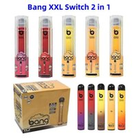 2021 Bang Pro Max Promax 스위치 XXTRA 2 in 1 Double Pod 1000 + 1000 PuffsDisposable Vape Pen Maxpro 트위스트 듀얼 카트리지 2in1 기화기