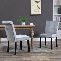 Mobili soggiorno moderno tessuto in gomma gambe in legno cuscino cotone crudo sgabello condimento a due set