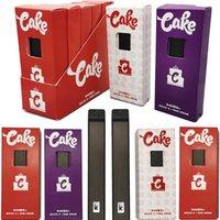 Торт Delta 8 Одноразовые Pod E Cigarettes Cartridges 1 Грам-распылитель PCTG Бак 270mAh Мощный Отопительный аккумулятор Розничная коробка Пустые Пара