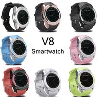 V8 스마트 시계 블루투스 시계 안드로이드 0.3M 카메라 MTK6261D PK DZ09 GT08 Smartwatch 소매 패키지 8 색