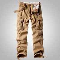 Man Cargo Pants Military Style Tactical Army Trousers Pocket Joggers Straight Loose Camouflage Bottoms Men Clothes Autumn Winter Plus Size 40 Seasons
