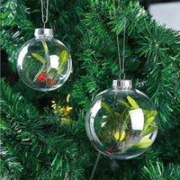 6 cm 8 cm 10 cm Noel Dekorasyon Topları Plastik Temizle DIY Doldurulabilir Baubles Xmas Ağacı Asılı Top Yeni Yıl Dekor Ev Için