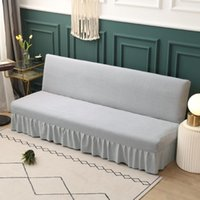 Chair Covers Fleece Fabric Armless Sofa Bed Cover Universal Size Slipcovers Stretch Foldable Couch Protector Elastic Bench Futon