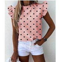 Элегантные полосатые печать женские блузки рубашка повседневная лето бабочка с коротким рукавом рубашки 2020 офис леди rucher o шеи топы blusa x0521