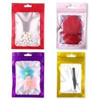 Packing Bags Colorful Resealable Smell Proof Foil Pouch Flat Mylar Aluminum Packaging For Party Favor Food Storage Zipper Bag 9PUF