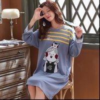 Plus Size Pyjamas Pijama Feminino Women Sleepwear Nightgown M 3XL Long Sleeved Spring and Autumn Female