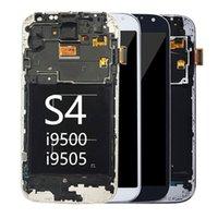 100٪ اختبار لوحات سوبر أموليد لسامسونج i9500 غالاكسي S4 LCD GT-I9500 SGH-I337M SGH-M919 GT-I9507V SHV-E330L عرض شاشة تعمل باللمس الجمعية محول الأرقام مع الإطار