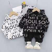 2шт малыша ребёнок девочек одежда наборы топы капюшона футболка + брюки одежда детская одежда набор детский повседневный трексуит 0-4 лет 81 z2