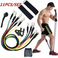 11 قطع فرق المقاومة اللياقة البدنية مجموعة رياضة المعدات ممارسة سحب حبل التدريبات مرونة WLL532