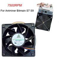Fans & Coolings 7500RPM Cooling Fan Replacement 4-pin Connector For Antminer Bitmain S7 S9 Radiator Ventilador PC Cooler Master