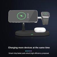3 sur 1 chargeur magnétique sans fil 15W Station de quai de chargement rapide pour les chargeurs de montre Stand