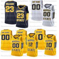 كرة السلة مخصص Murray State Jerseys 12 Morant 10 Tevin Brown 23 KJ Williams 2 Chico Carter Jr. 14 Jaiveon Eves