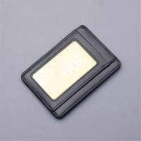 Card Holders Unisex Ultra-Thin Wallet Multi-Card ID Credit Bank Name Business Holder PU Leather Coin Purse Student Clutch Money Bag Clip