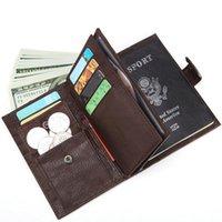 İnek Deri erkek Kart Sahibi Business Durumda En Kaliteli Seyahat Kredi Pasaport Çantası Kimlik Duvar Cüzdan