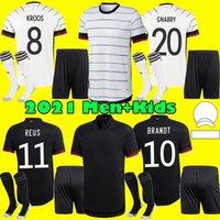 Erkekler Çocuk Kiti 2021 Almanya Futbol Forması Ev Hummels Kroos Draxler Reus Muller Gotze Futbol Gömlek Üniformaları