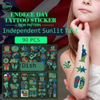 Glow W Dark Niepodległości Dnia Naklejki Tatuaż Naklejka U.