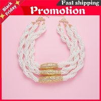 Chains 2021 June Multilayered Beads Chain Romantic Choker Necklace Simulated Pearl