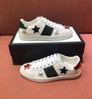 2021 homens de verão mulheres sapatos casuais clássico listra branca sapato canvas Splicing sneakers animal bordado treinadores tamanho 35-46 com caixa