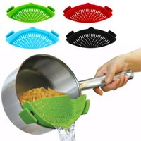 Silicone Colanders Kitchen Clip on Pot Strainer Drainer for Draining Liquid Univers Draining Pasta Vegetable Tool DropShipping