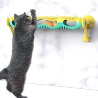 Cat Toys Tunnel Turntable Ball Toy With Pet Hair Removal Brush Bell Comb Massager Self Groomer Set For And Dog