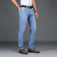 Men's Shorts Skinny Jeans Hommes 2021 Mode Mâle Entreprise Entreprise Denim Pantalon Casual Bleu Clair Vintage Pant Pant Printemps Summer
