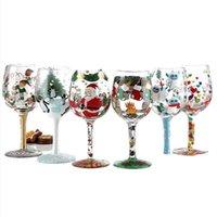 1 pedaços óculos coloridos caneca multi-cor cristal vermelho graffiti goblet presentes de aniversário de casamento fornece vinho claro glasse