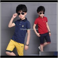 Baby, & Maternity Drop Delivery 2021 Baby Big Kids Shirt Tops Fashion Dots Boy Summer Clothing Set T Shirt+Pants Children Boys Clothes Sets 3