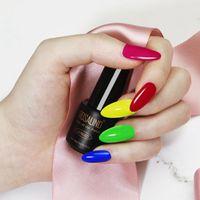 Nail Gel 12pcs Polish Kit With Top Base Coats Trendy Spring Summer Art Design Manicure Set For Home Salon