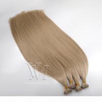 Doppelte 0,5g Strang 100g Brasilianischer europäischer I-Tip-Human-jungfrau Remy Human Straight Keratin Haarverlängerungen