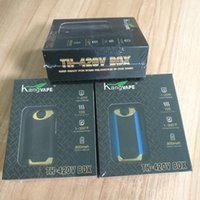 Kangapape original Th420 V Box E Kits de cigarro 800mAh 20W de potência ajustável Vape mod 420 0.5ml Cartucho de bobina cerâmica