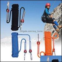 Outdoor And Cam Hiking Sports & Outdoorsoutdoor Gadgets 3 Farben Klettern Seil 12Mm Durchmesser Hohe Festigkeit Überleben Paracord Sicherhei