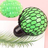 6 cm Malla colorida Squishy Flyle Balls anti estrés Squeeze Toys DiscomPresione Ansiedad Regalo de ventilación para niños