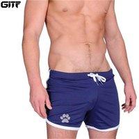 Запуск Шорты Gitf Mens Fitness Fitness Bodybuilding Run Sport Joging Тренировка Мужской 2021 Лето Прохладная Дышащая сетка Мужчины Короткие спортивные штаны