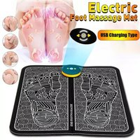 electric EMS foot massager Mat electricos tens Health Care electrodes physiotherapy massage Feet Reflexology relax salud masaje