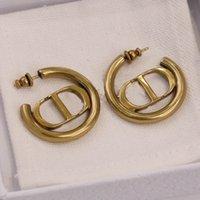 Boucle d'oreille de forme ronde de qualité supérieure avec des mots conçus dans 18 carats plaqué or pour femme de mariage billet de timbre cadeau de juive PS8642