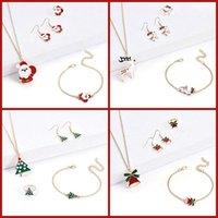 Earrings & Necklace A Set Of Fashionable Christmas Tree Pendants Pendant Rings Necklaces Braceletsset Combination Gothic Jewelry