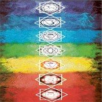 Multifunktionale Teppiche Schalldämpfer Square Strandtuch Bunte Serie Schal Gewebe Rock Bad Schal Farbe Gitter Muster Teppich DHD5658