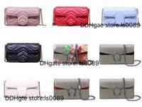 Mit Box Classic Marmont Umhängetaschen Top Qualität Echtes Leder Crossbody Multi-Color Multi-Style Frauen Mode Luxurys Designer Tasche Schlüsselanhänger Münzbörse