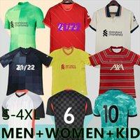 サイズ:S  -  4XL 2022 Hend Special Soccer Jerseys Player版赤2番目の3番目の黄色い21 22 Alexander Arnold Diogo J. Milner A.Becker女性子供サッカーシャツ21/22