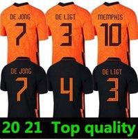 أعلى 20 21 هولندا لكرة القدم الفانيلة F.de جونغ فيرجيل لكرة القدم قميص هولندا دي Ligt جيرسي ممفيس مايلوت د قدم