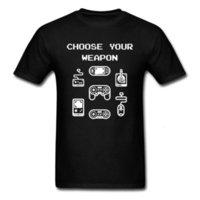 TV Controladores de PC Gamer Tshirt Elija su unidad de videojuegos de armas Unidad divertida t shirt O-cuello 100% algodón tela hombres camisetas