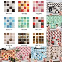 Wall Stickers 10pcs Set Mandala Style Crystal Hard Tiles Ceramics Sticker Kitchen Wardrobe Home Decor Art Mural Peel & Stick Decals